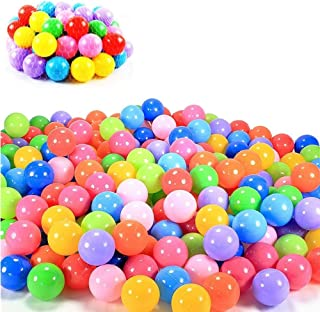 Mofeng Colorful Ocean Ball Soft Plastic Playing Ball Toy Fun Outdoor/Indoor Kids Pets Swim Pit Toy