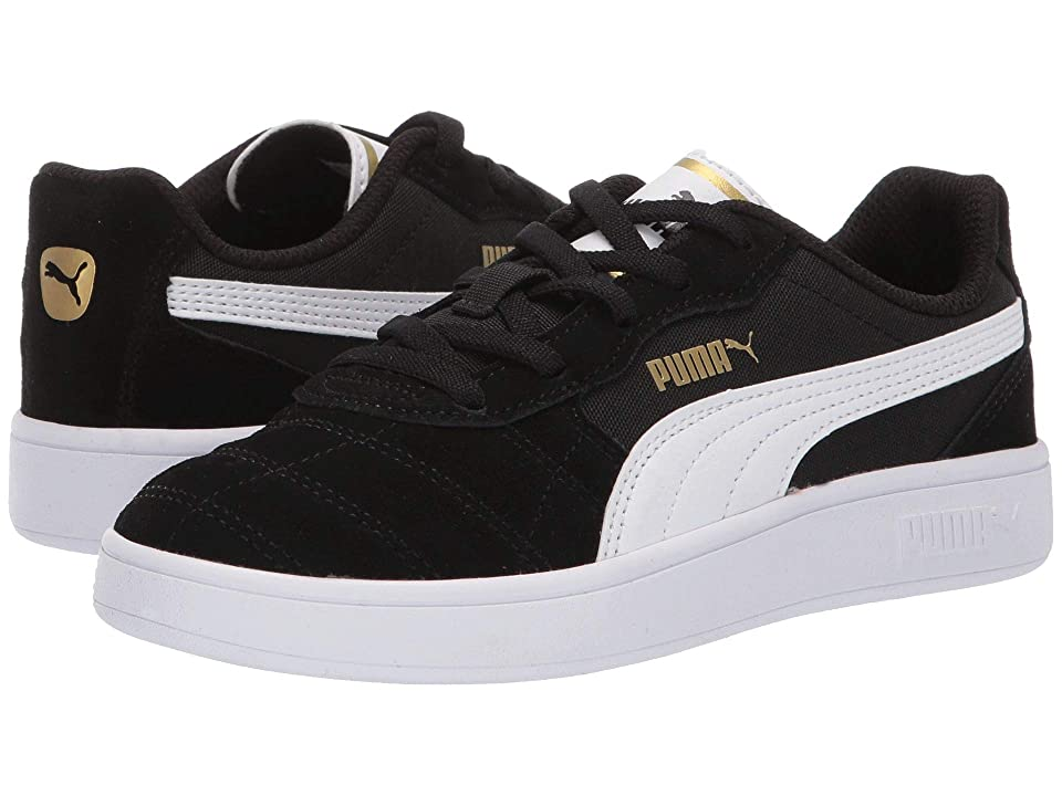 Puma Kids Astro Kick Slip-On (Little Kid) (Puma Black/Puma White/Puma Team Gold) Kids Shoes
