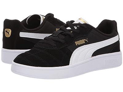 Puma Kids Astro Kick Slip-On (Little Kid) (Puma Black/Puma White/Puma Team Gold) Kids Shoes