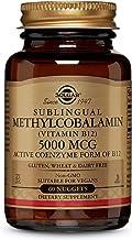 Solgar Methylcobalamin (Vitamin B12) 5000 mcg, 60 Nuggets - Supports Energy Metabolism - Body-Ready, Active Form of B12 - Vitamin B - Non GMO, Vegan, Gluten, Dairy Free, Kosher - 60 Servings