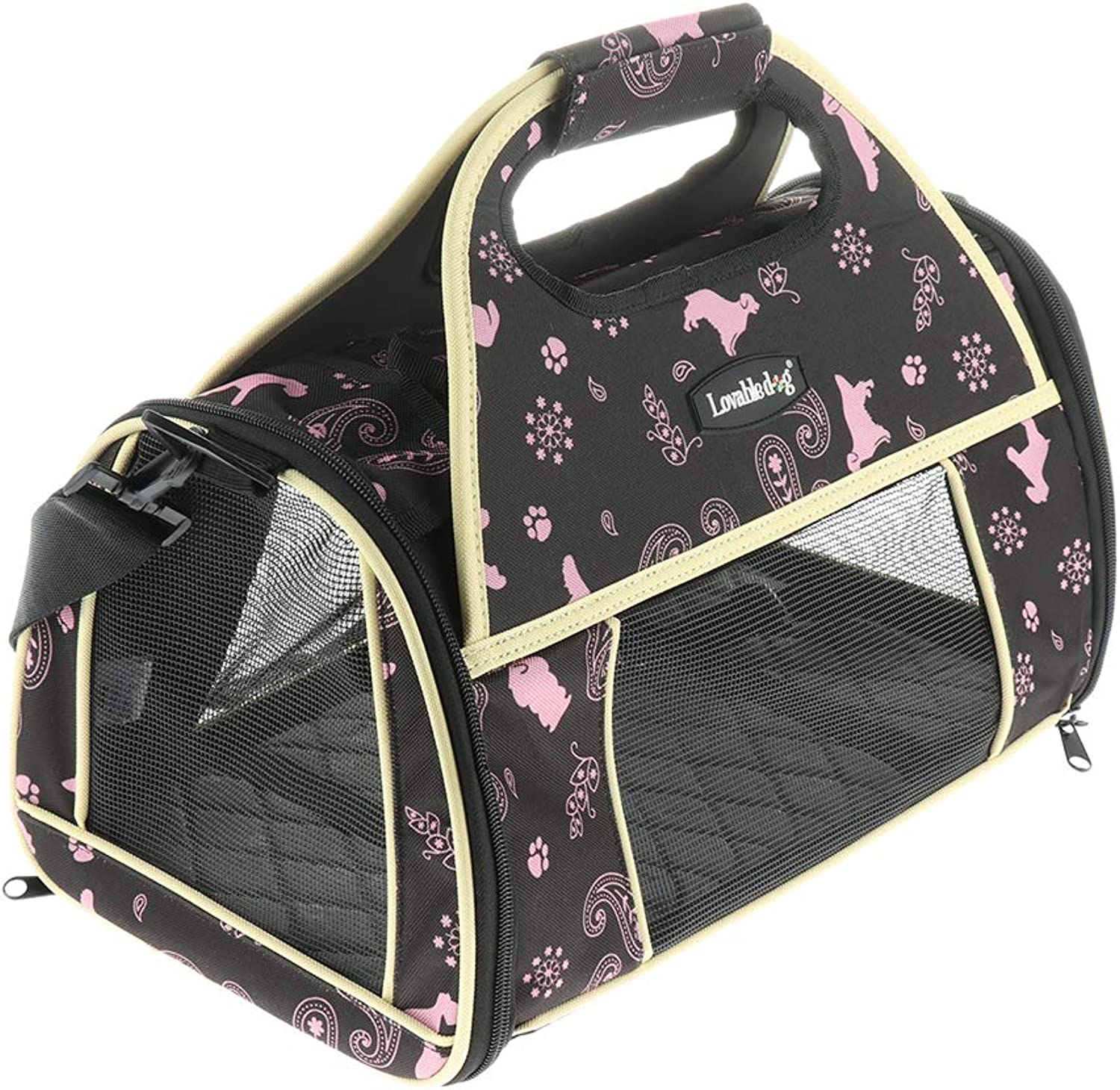 Baoblaze Pet Small Dog Cat Bed Mats House Foldable Travel Carrier Handbag Travel Puppy