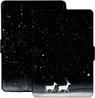 Ayotu Colorful Case for Kindle Paperwhite Auto Wake/Sleep Smart Protective Cover Case - Fits All Paperwhite Generations Prior to 2018(Not Fit All-New Kindle Paperwhite 10th Gen)K5-09 The Amusing Deer