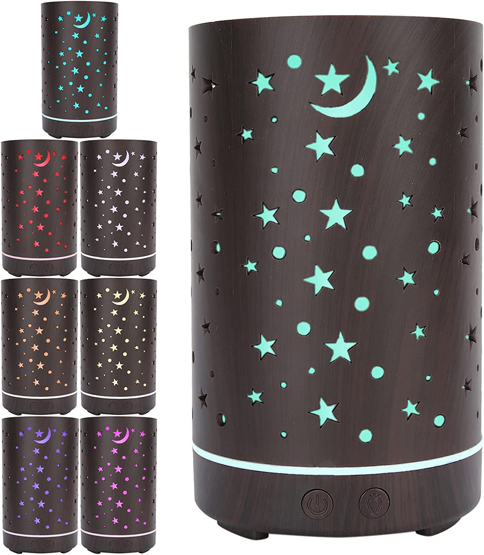 100ml cheap Indianapolis Mall Portable Aroma Diffuser Desktop Star Hollow Humidi Pattern