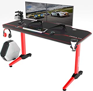 Vitesse 55 inch Gaming Desk Racing Style Computer Desk with Free Mouse pad, T-Shaped..