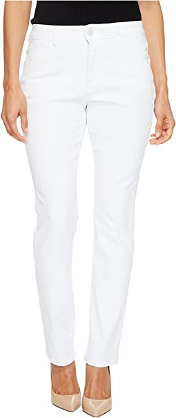 Petite Portia Straight in White Denim