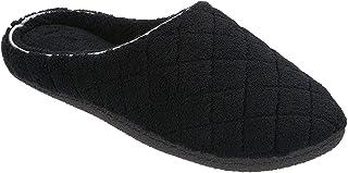 Dearfoams Womens Quilt Memory Foam Clog Slippers X-Large Black