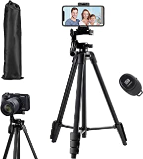Flexible Tripod, Eocean 136cm Extendable Phone Tripod Stand with Carry Bag,Cell phone Tripod with Wireless Remote,Universa...