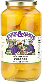 Jake & Amos Old-Fashioned Canned Peaches, 32 Oz. Jar (Pack of 2)