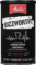 Melitta Buzzworthy High Caffeine Coffee by Melitta, Dark Roast, Ground, 13 oz