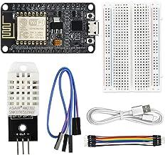 WayinTop DHT22 Sensor für Temperatur und Luftfeuchtigkeit Webserver Kit für ESP8266 mit Tutorial, ESP-12E WiFi Development Board + DHT22 Sensor + USB-Anschluss + 400PinSteckbrett + 10Pin Jumper Wire