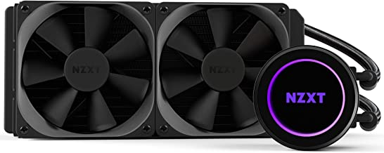 NZXT Kraken X62 280mm - All-In-One RGB CPU Liquid Cooler - CAM-Powered - Infinity Mirror Design - Reinforced Extended Tubing - Aer P140mm Radiator Fan (2 Included) (Renewed)