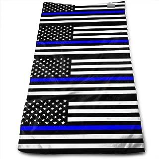 Cotton Thin Blue Line Blue Lives Matter Flag.PNG Toallas para Platos, Toallas de Cocina de Gran tamaño para secar, Limpiar, cocinar, Hornear (12 X 27.5 Pulgadas)