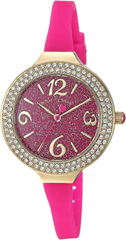 Glitter Dial & Silicon Strap Watch