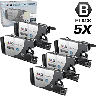 LD © compatible with Brother  LC75 Pack of 5 High Yield Ink Cartridges: 5 LC75BK Black compatible with Brother  MFC-J280W, MFC-J425W, MFC-J430W, MFC-J435W, MFC-J5910DW, MFC-J625DW, MFC-J6510DW, MFC-J6710DW, MFC-J6910DW, MFC-J825DW and MFC-J835DW Printers