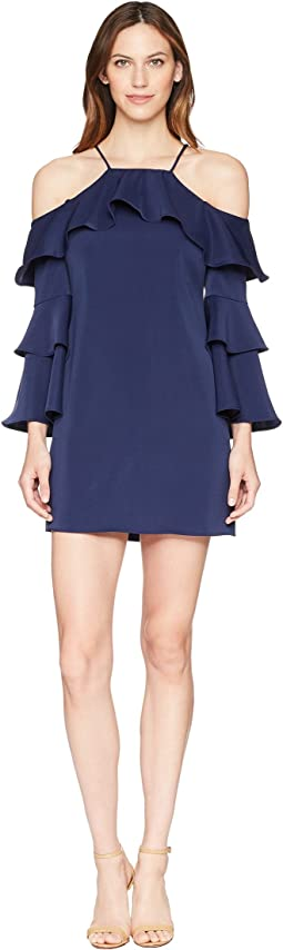 Laundry by Shelli Segal - Cold Shoulder Dress with Tiered Sleeves