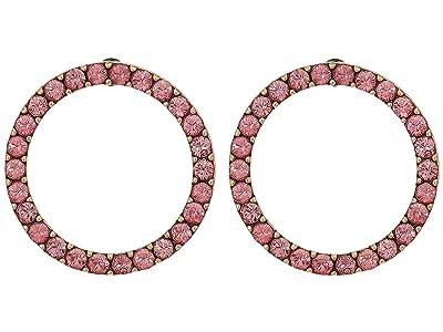 J.Crew Circle Wonder Post Earrings (Pale Blush) Earring