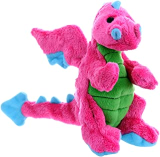 goDog Dragons with Chew Guard Technology Durable Durable Plush Squeaker Dog Toy