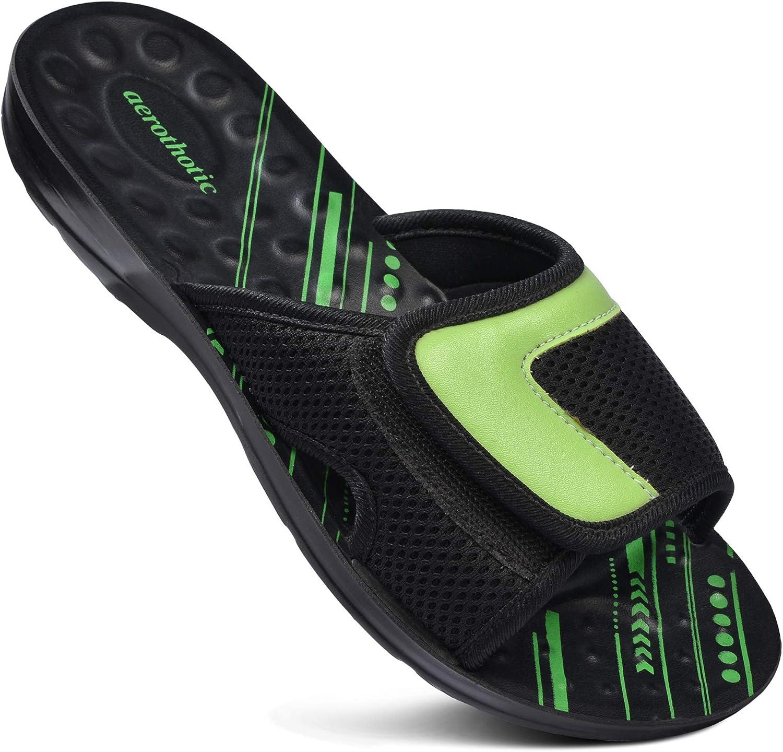 AEROTHOTIC - Adjustable Strap Kansas City Mall Comfort Flat Walking Slide Louisville-Jefferson County Mall Slip-On