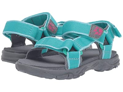 Jack Wolfskin Kids Seven Seas 2 Sandal (Toddler/Little Kid/Big Kid) (Aquamarine) Girls Shoes