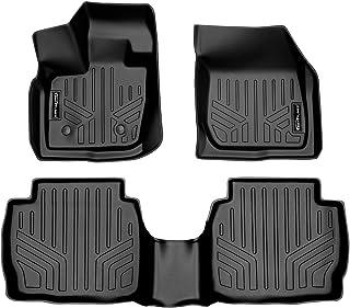 SMARTLINER Custom Fit Floor Mats 2 Row Liner Set Black for 2017-2019 Ford Fusion/Lincoln MKZ