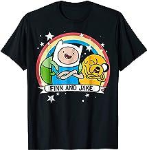 CN Adventure Time Finn & Jake Rainbow Banner Graphic T-Shirt