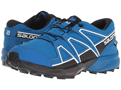 Salomon Kids Speedcross CSWP (Little Kid/Big Kid) (Indigo Bunting/Sky Diver/White) Boys Shoes
