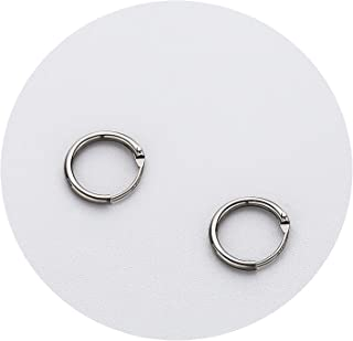 Real 925 Sterling Silver Minimalist Smooth Round Hoop Earrings Fine Jewelry Personality Accessories