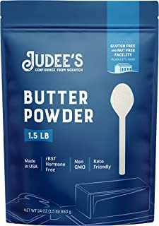 Judee's Butter Powder - 1.5lb (24oz) Resealable Pouch   100% Non-GMO, Keto-Friendly, rBST Hormone-Free, Gluten-Free & Nut-...