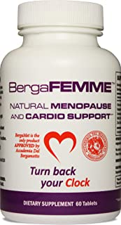 BergaFEMME Women's Menopause Relief 60 Tablets. Mood & Hot Flashes, Increase Metabolism, Mega Energy, Weight Loss, Night Sweats, Cholesterol & Blood Pressure, Clinical Trials, Non-GMO & Gluten Free