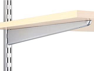 Knape & Vogt John Sterling Dual Trak Adjustable Wood Shelf Bracket, 14-Inch, Platinum, 0122-14PM