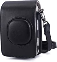 Phetium Protective Case Compatible with Instax Mini Liplay Hybrid Instant Camera and Printer, Soft PU Leather Bag with Removable/Adjustable Shoulder Strap (Black)