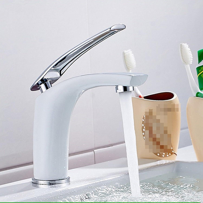 Athraoay Wasserhahn bad Waschbecken Messing - Verchromt Einhebelsteuerung Einhebelsteuerung, Warmes und kaltes Wasser Waschtischarmatur Waschtisch für Badezimmer