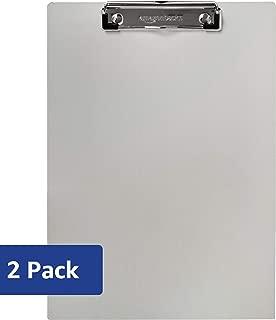 AmazonBasics Aluminum Office Clipboard, Letter Size, Pack of 2