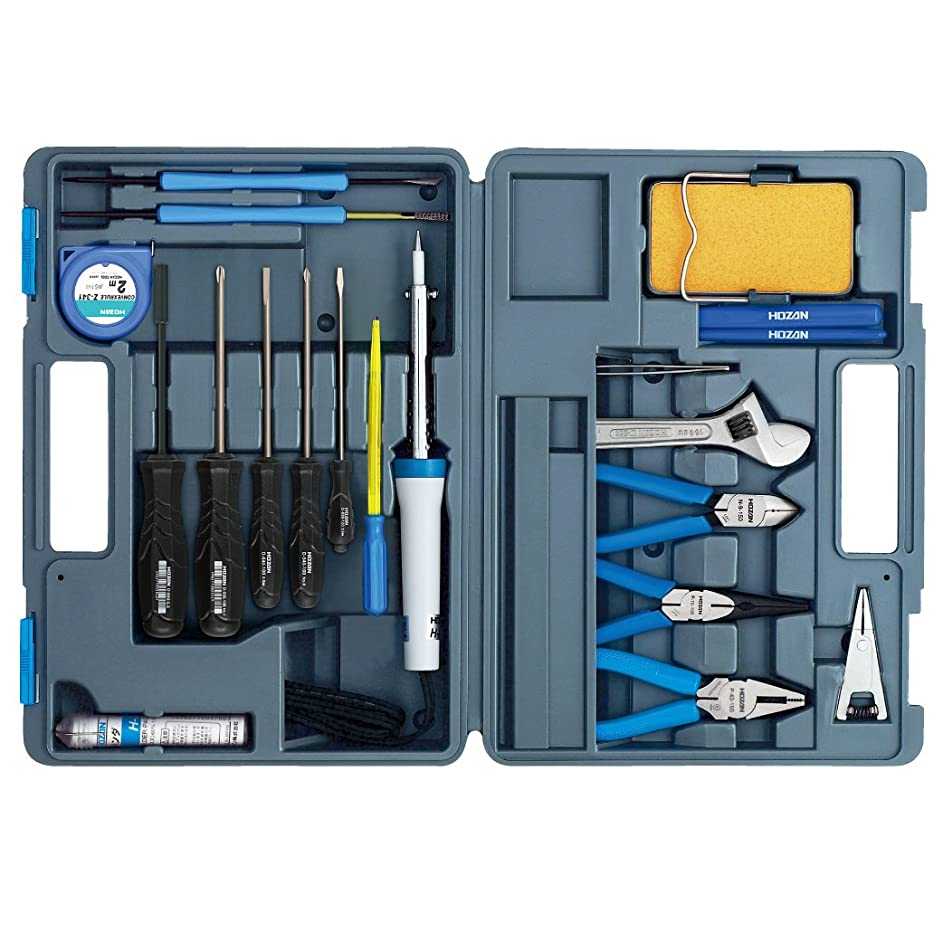 贅沢な提案する折るホーザン(HOZAN) 工具セット 入組20点 ハンダゴテ230V 備品や家庭でのDIY、車載工具、防災用に S-22-230