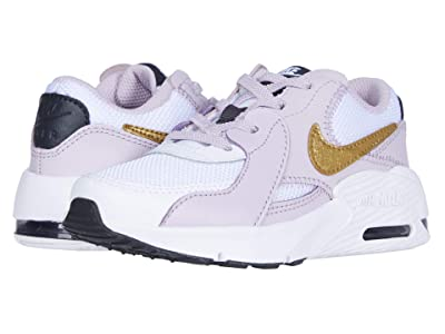 Nike Kids Air Max Excee (Little Kid) (White/Metallic Gold/Iced Lilac/Off Noir) Kid