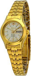 Orient FNQ0400FC Women's Gold Tone Stainless Steel 3 Star Gold Dial Automatic Watch