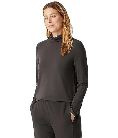 Eileen Fisher Scrunch Neck Top in Fine Jersey Knit