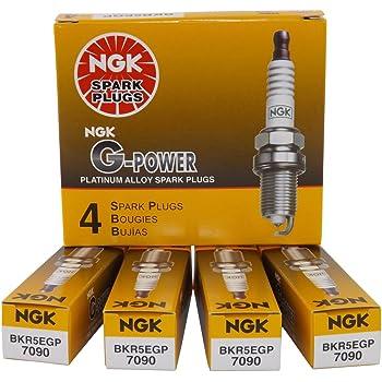 NGK 7090 BKR5EGP G-Power Spark Plug, Pack of 4