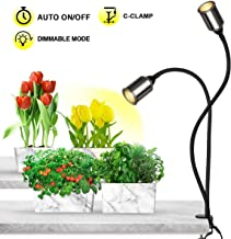 Bozily Grow Lights for Indoor Plants Full Spectrum with Timer-75W COB CREE Sunlike Plant Light with 3/6/12/24H Timer 5 Dimming LED Sunlight Growing Lamp for Plants Seedling Blooming Fruiting [Upgrade]