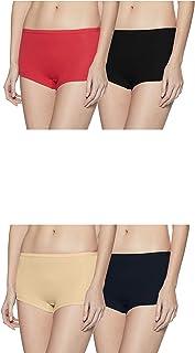 Rupa Softline Women's Cotton Boy Shorts (Pack of 4)