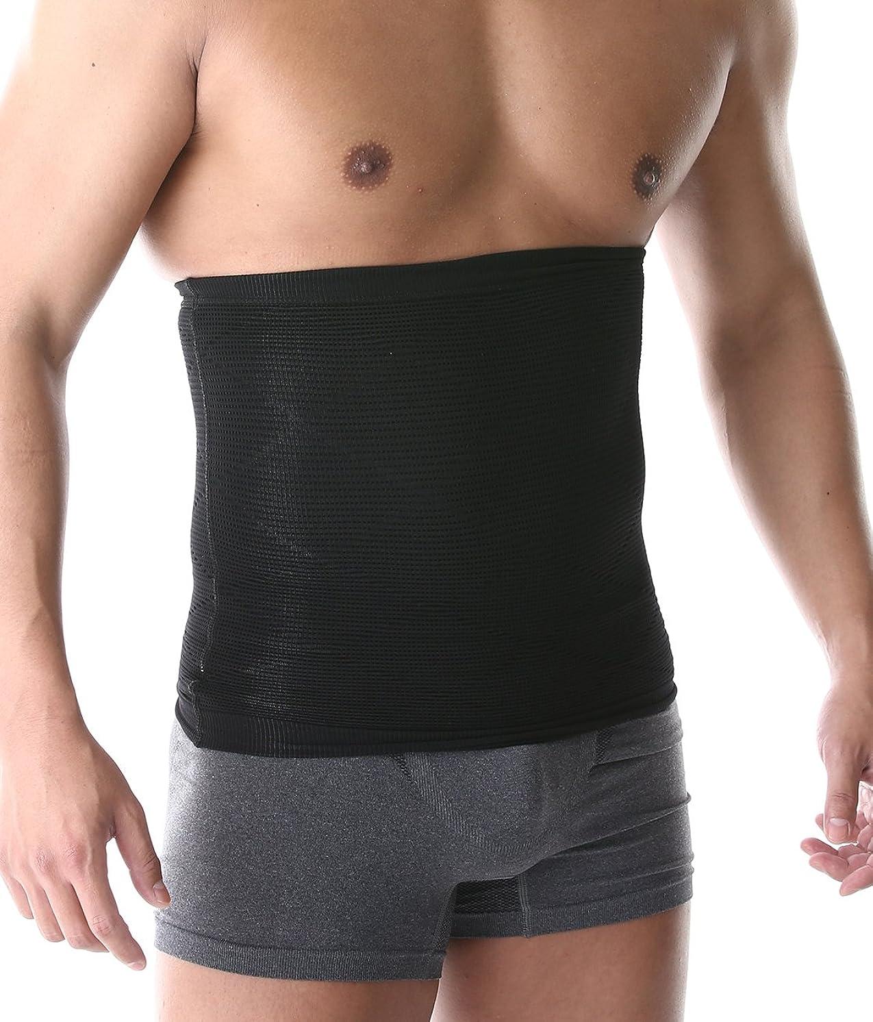 上記の頭と肩熟考するウッズSPORTIA 加圧 ウエストサポーター 腹巻 お腹 引き締め ダイエット 男女兼用 ブラック L