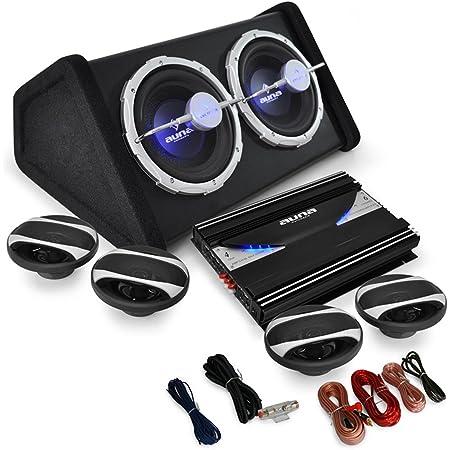 Auna 4 1 Auto Lautsprecherset Komplett Hifi Set Black Elektronik