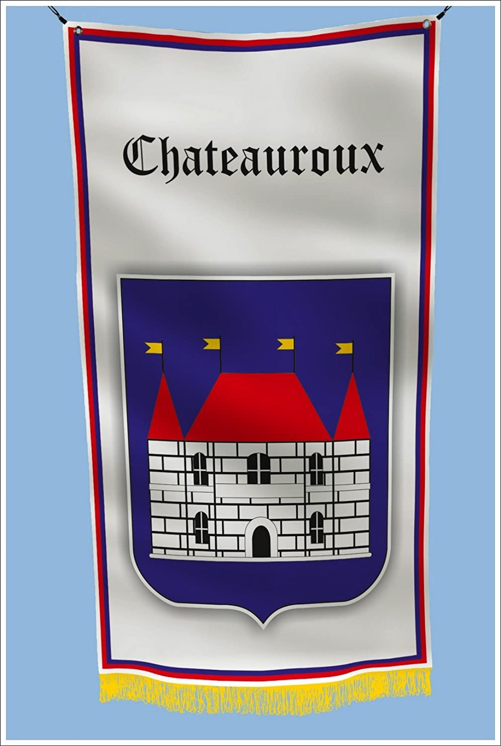 Apedes CHATEAUROUX France Coat of ARMS Hangar Basement Flag 3x5 Feet