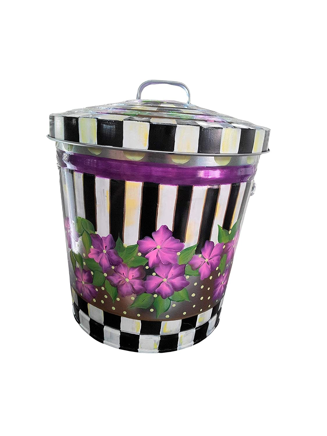 10 Gallon Hand Painted Trash Sales for sale Can Garbage Popular overseas Decorative