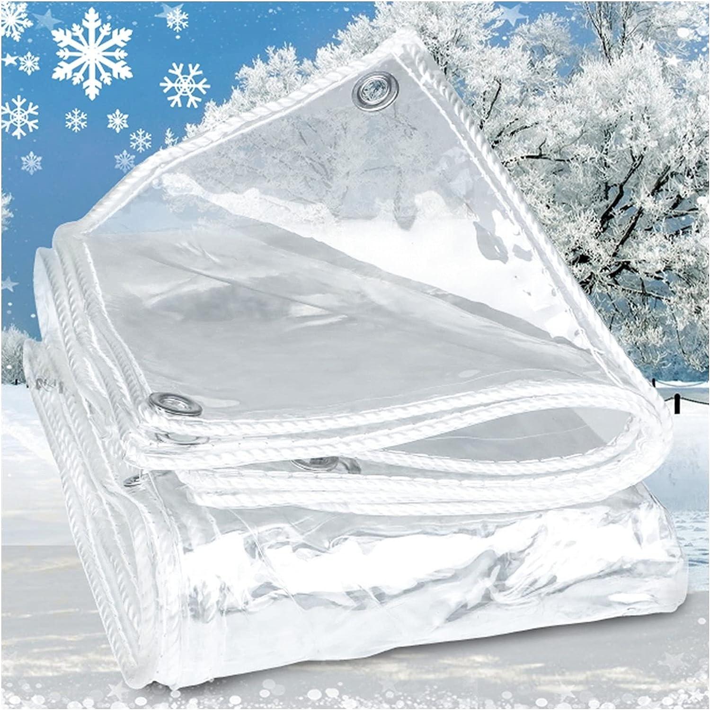 LIQICAI Outdoor 99.9% Transparent Tarp Tulsa Mall Waterproof Anti-Te Max 66% OFF 0.3mm