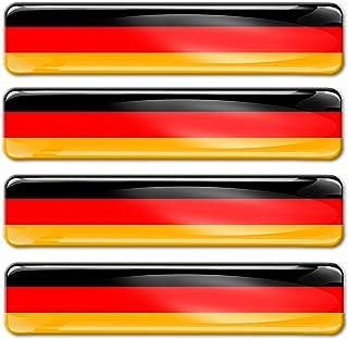 SkinoEu® 4 x Aufkleber 3D Gel Silikon Stickers Germany Deut