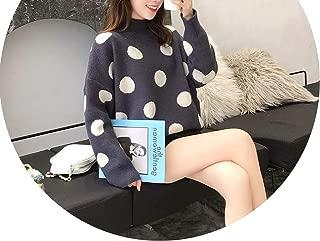 Women Winter Chic Sweaters Half Neck Loose Pull Jumpers Loose Korean Tops,