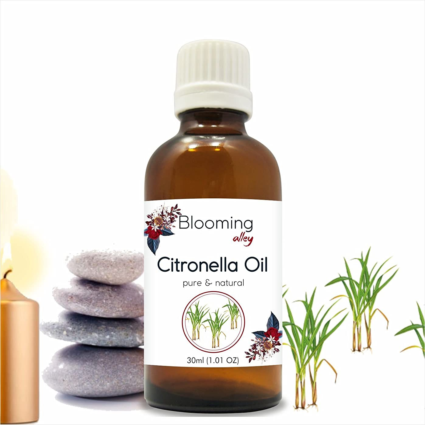 永遠の建設リングバックCitronella Oil (Cymbopogon Nardus) Essential Oil 30 ml or 1.0 Fl Oz by Blooming Alley