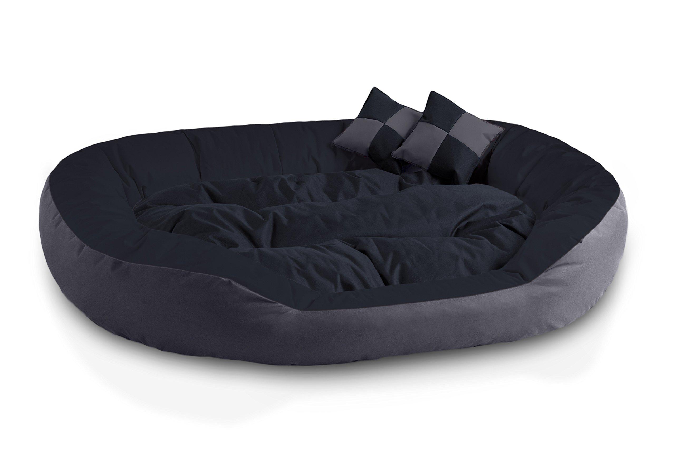 BedDog® 4en1 Saba Antracita/Gris XXL Aprox. 110x80cm colchón para ...