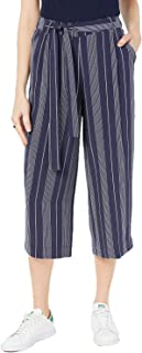 Maison Jules Women's Striped Belted Culottes, Navy, XX-Small